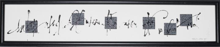 freie Handschrift Quadrate Kalligraphie
