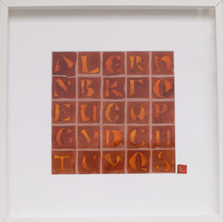 Kalligraphiebuchstaben