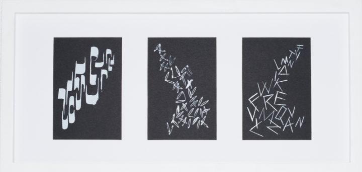 Kalligraphie mit 3 Motiven