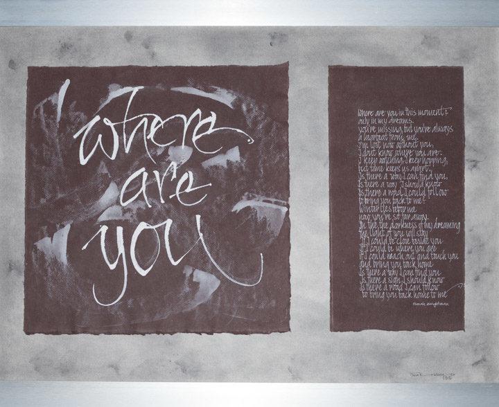 2 verschiedene Kalligraphien