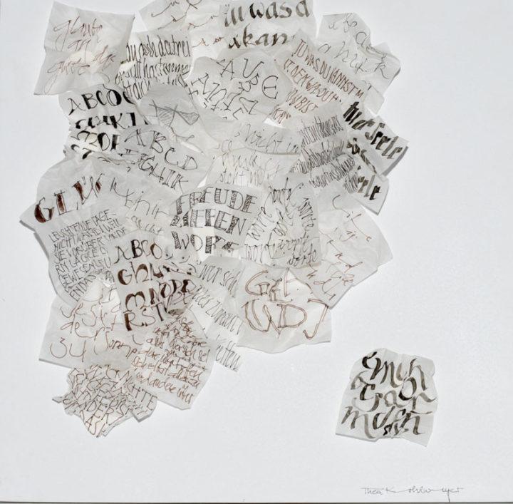 Kalligraphie auf Pergament